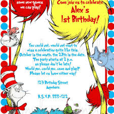 dr seuss birthday invitation wording 28 images dr seuss