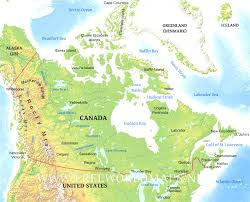 Physical Map Of Alaska by 12 Top Mesmerizing Map Of Canada With Islands Evenakliyat Biz