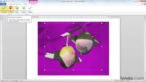 How To Attach Photo To Resume Microsoft Word Tutorial How To Edit Picture Backgrounds Lynda