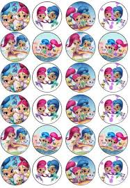 where to buy edible paper 24 x shimmer and shine edible disc cake toppers icing or wafer