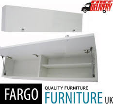 Horizontal Storage Cabinet Horizontal Wall Cabinet Cupboard Unit Storage White Matt High