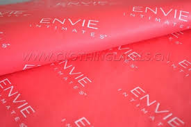 custom gift wrapping paper custom tissue paper for clothing with white logo gift
