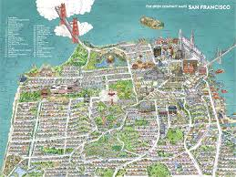san francisco map san francisco map the open company borgarmynd