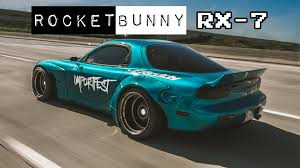 mazda rx7 rocket bunny kit rocketbunny rx 7 aqua fd3s importfest edition youtube