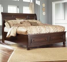 California King Sleigh Bed Furniture Porter California King Sleigh Bed With Storage