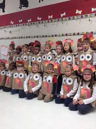 turkey costumes paper bags and construction paper make great