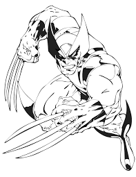 marvel coloring pages printable wolverine from x men cartoon coloring page free printable