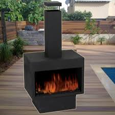 flame patio heater outdoor fire pit metal chiminea log wood burner garden patio