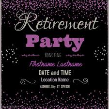 retirement party template postermywall
