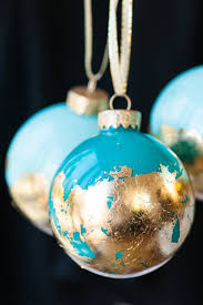diy painted gold leaf ornaments an ornament the sweetest