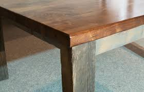 Natural Slab Dining Table Hand Crafted Walnut Dining Table Live Edge With Reclaimed Barn