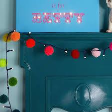 Fairy Lights Childrens Bedroom by Pom Pom Fairy Light Garland By Thelittleboysroom
