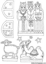 nativity diorama christmas coloring pages sunday