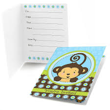monkey invitations baby shower boy monkey baby shower invitations baby shower mania