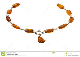 amber stone necklace images Amber gold color stone necklace isolated on white stock image jpg