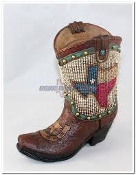 Texas Flag Gif Texas Flag Beaded Boot Coin Bank