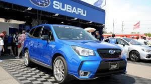 subaru forester 2017 blue 2014 subaru forester gains sti goodies in japan