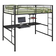walker edison full metal loft bed black hayneedle