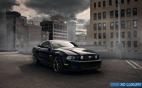 Matte Black Ford Mustang Ford Mustang Verona Xo Luxury Wheels