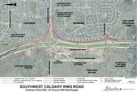 Southwest Canada Map by 2015 Southwest Calgary Ring Road Maps U2013 Calgary Ring Road