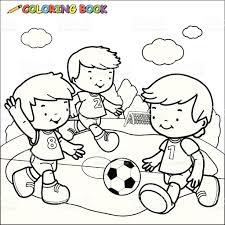 coloring book soccer kids stock vector art 494041833 istock