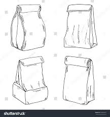 various lunch bags lunch boxes sketch stock vector 559876285