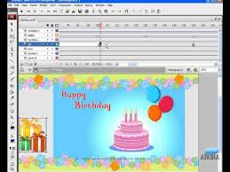flash animation tutorial birthday greeting e card youtube