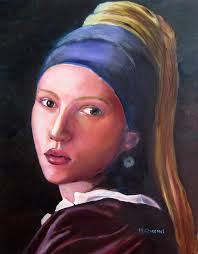 pearl earring painting johansson in vermeer s girl with a pearl earring painting