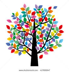colored tree stock images royalty free images vectors