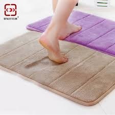Memory Foam Rugs For Bathroom Aliexpress Buy 40x60cm Coral Velvet Memory Foam Rug Bathroom