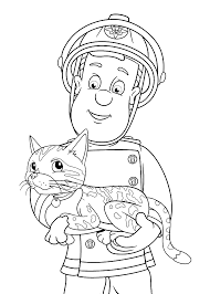 fireman sam coloring pages for kids printable free print