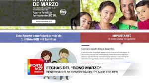bono marzo chile 2016 fechas del bono marzo beneficiados se conocerán el 1 y 14 de