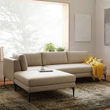 west elm andes sofa review west elm andes 3 piece chaise sectional living rooms spaces and room