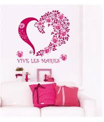 pink heart wall stickers sticker creations syga printed pvc vinyl pink wall stickers