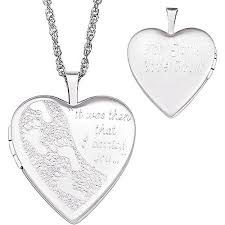 personalized photo locket necklace personalized footprints in the sand sterling silver locket