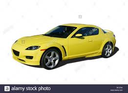 mazda logos 2004 yellow mazda logos removed stock photo royalty free image