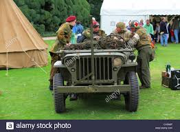army jeep reconstruction ww2 us army jeep with british and american soldiers