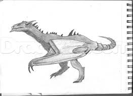 how to draw a wyvern type dragon step by step dragons draw a