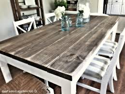 Diy White Dining Room Table Furniture Diy Dining Table Bench Our Vintage Home Dining