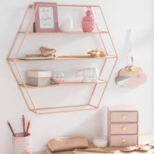 Pink Gold Bedroom by