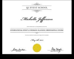Wedding Planner Certification Qc Makeup Academy Certificate Mugeek Vidalondon