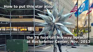 rockefeller center christmas tree swarovski star youtube