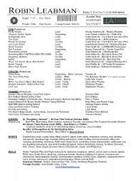 Actors Resume Template Exles Of Resumes 93 Awesome Simple Resume Sles And
