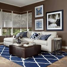 navy blue couches living room high gloss white drawer unit on