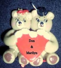 s day bears with personalized handmade clay