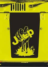 cj jeep yellow product jeep zombie hand wrangler hood cj yj tj jk vinyl sticker