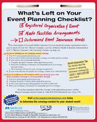 event insurance planning events