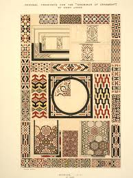 original drawing for the grammar of ornament jones owen v a