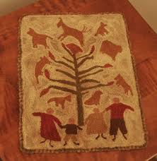 194 best penny rugs wool applique images on pinterest penny rugs