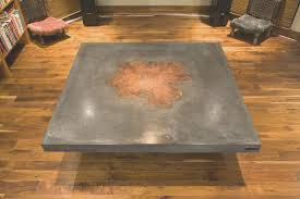 coffe table cool concrete and wood coffee table decoration ideas